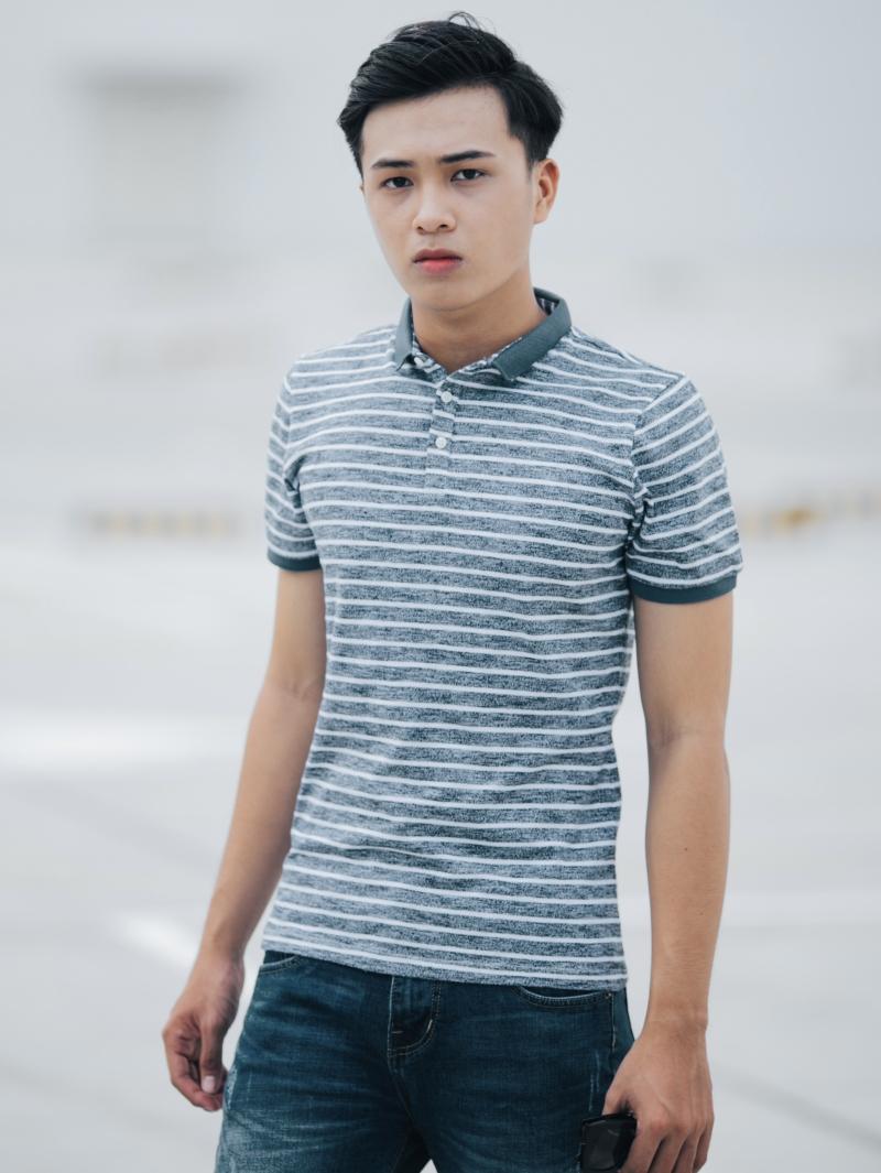 Ao Thun Soc Co Co Xanh Den AT635