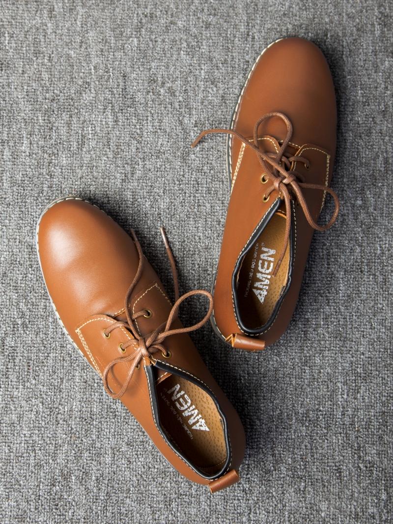 Giày cột dây thời trang bò đậm g111 - 2