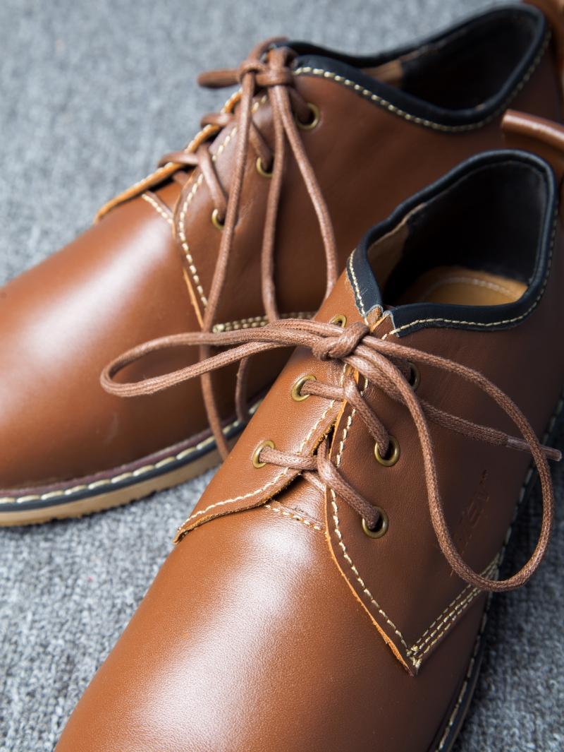 Giày cột dây thời trang bò đậm g111 - 3