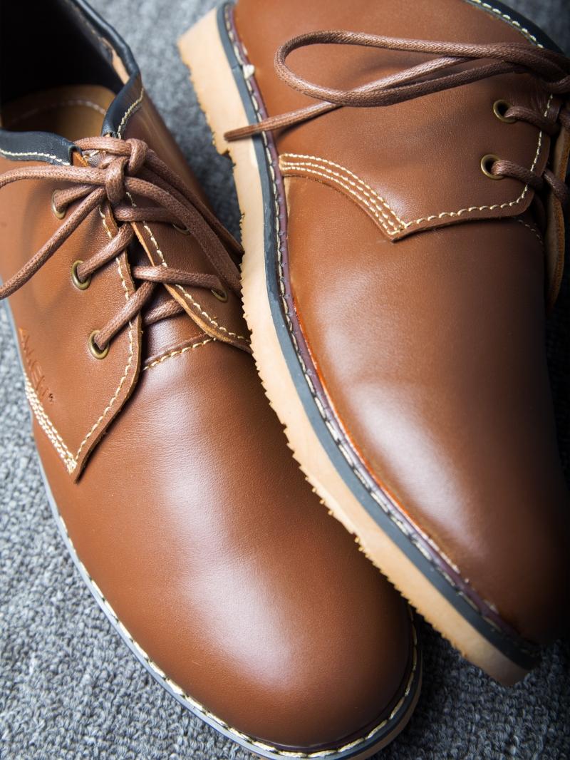 Giày cột dây thời trang bò đậm g111 - 4