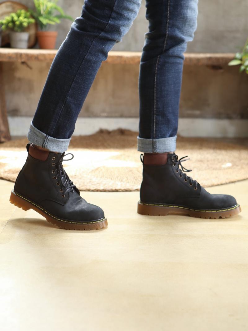 Giày Boot Cổ Cao Đen G101
