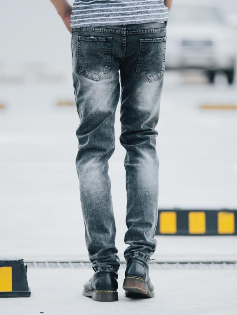 Quần jean skinny xám chuột qj1410 - 2