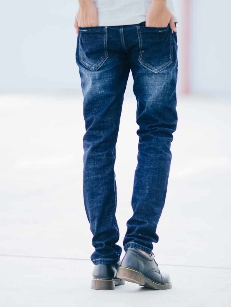Quần jean skinny xanh đậm qj1414 - 2