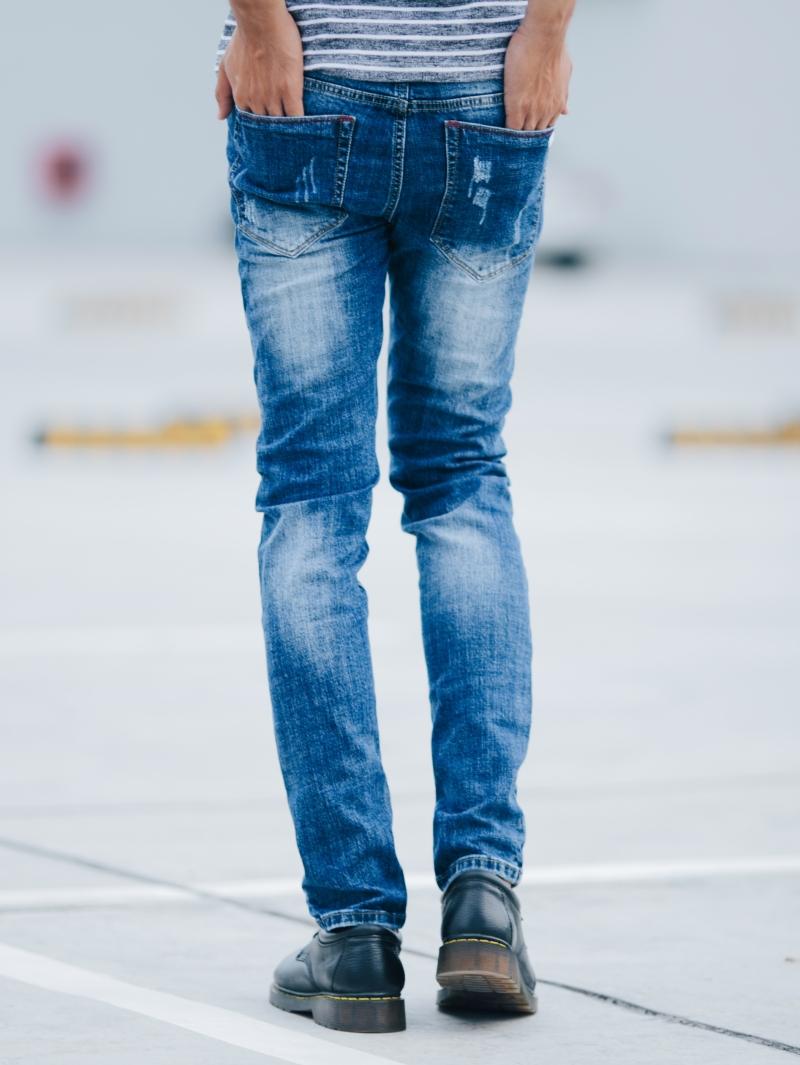 Quần jean xanh dương qj1411 - 2