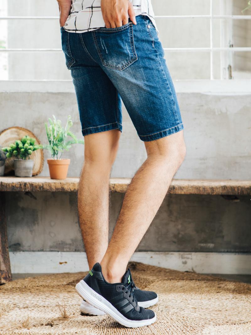 Quần short jean xanh đen qs86 - 2