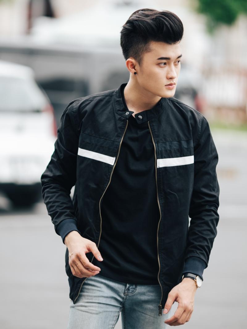 Áo khoác kaki đen ak205 - 2