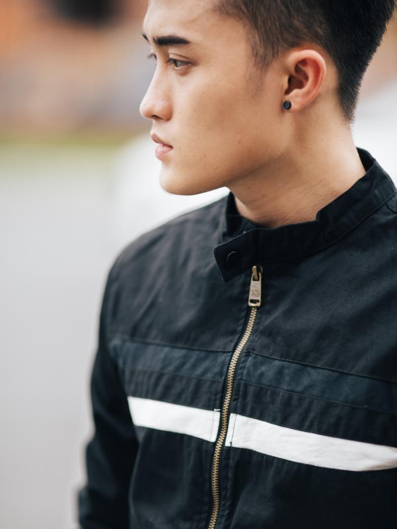 Áo khoác kaki đen ak205 - 3