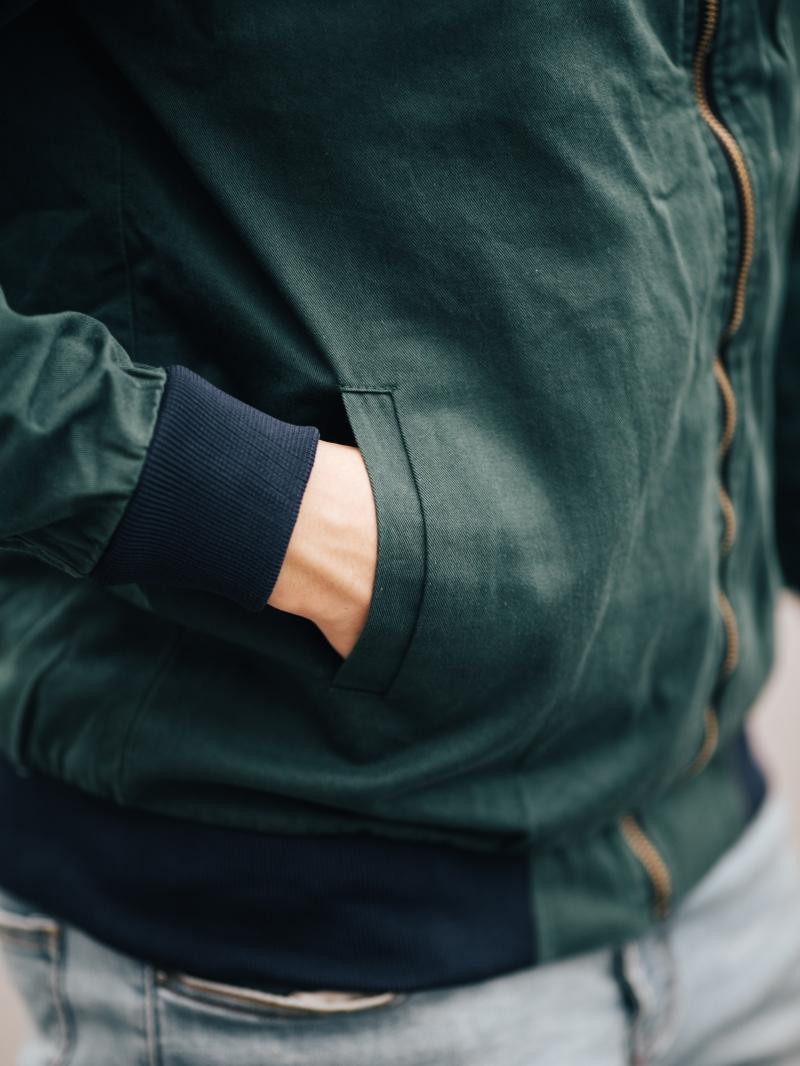 Áo khoác kaki xanh cổ vịt ak205 - 3