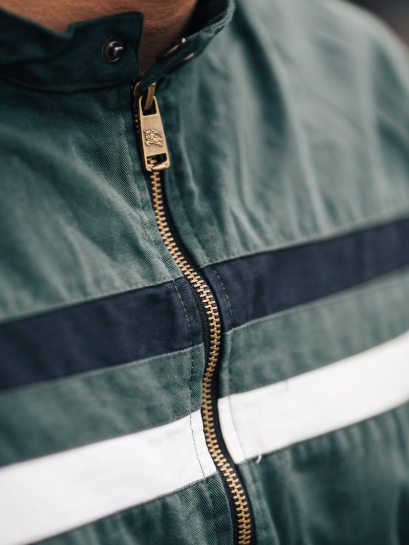 Áo khoác kaki xanh cổ vịt ak205 - 4