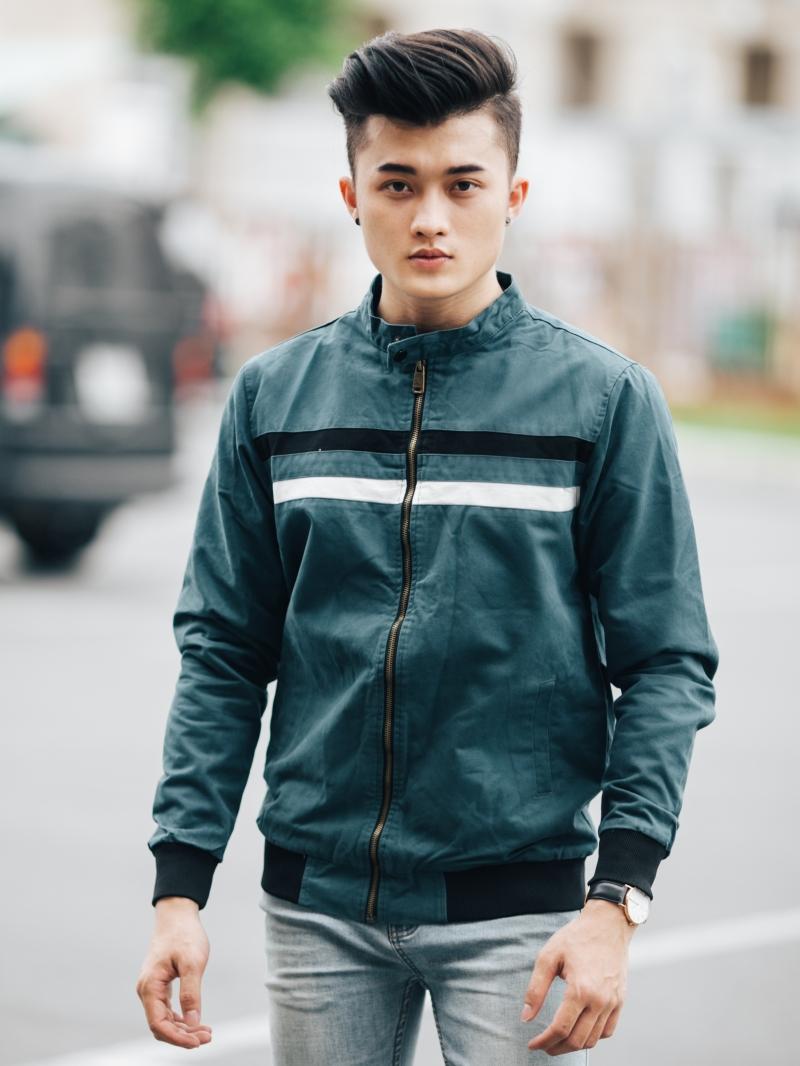 Áo khoác kaki xanh rêu ak205 - 1
