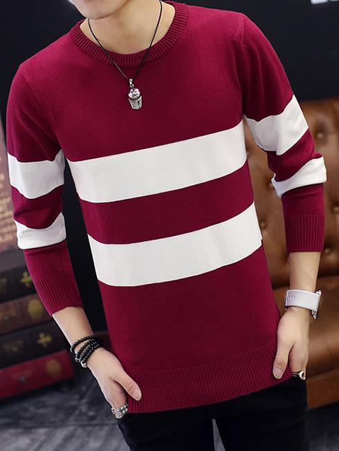 Áo len đỏ đô al92 - 2