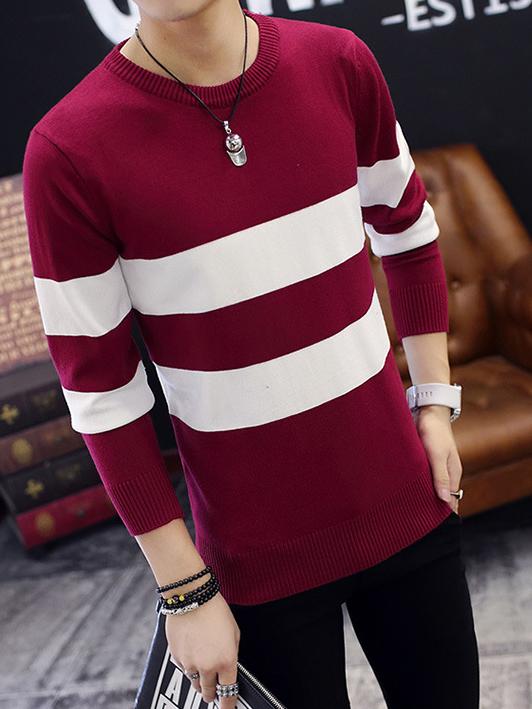 Áo len đỏ đô al92 - 3