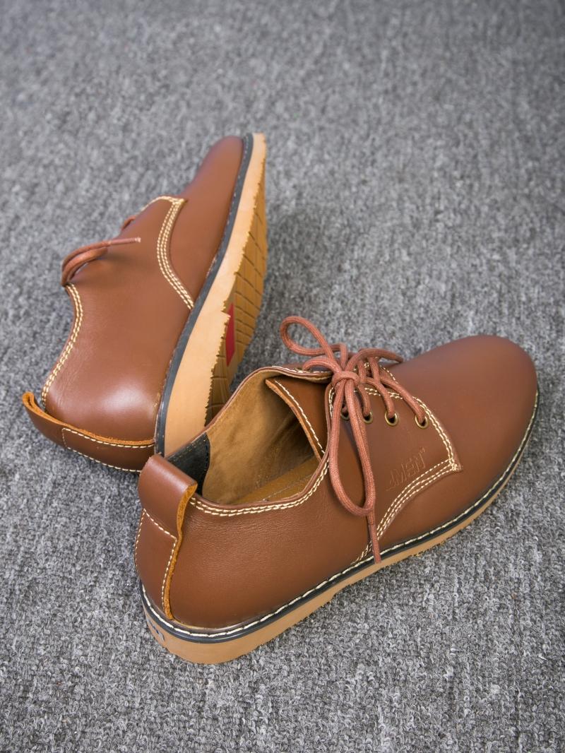 Giày cột dây thời trang bò đậm g109 - 2