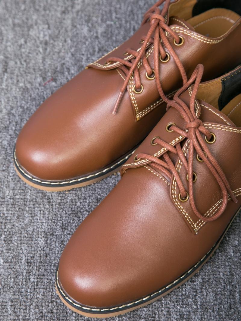 Giày cột dây thời trang bò đậm g109 - 4