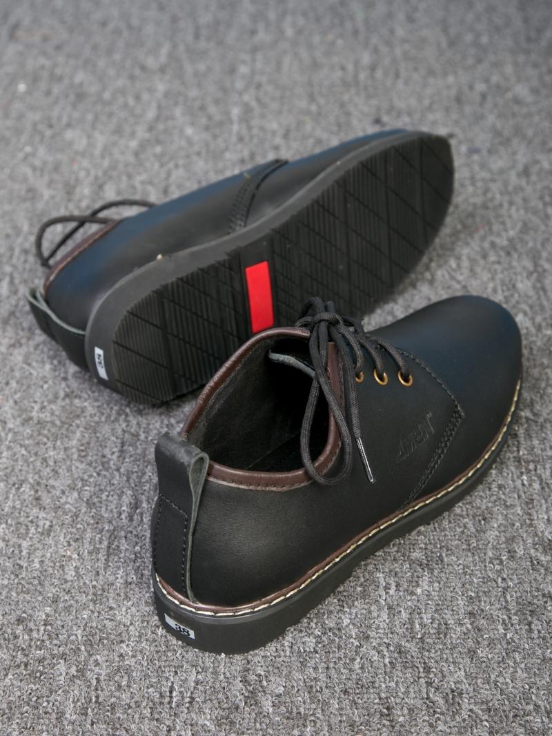 Giày cột dây thời trang đen g111 - 2