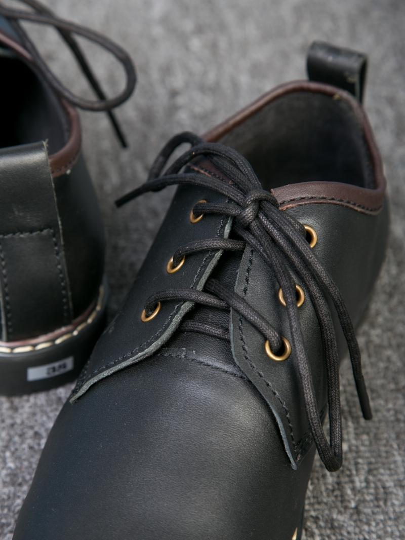 Giày cột dây thời trang đen g111 - 3