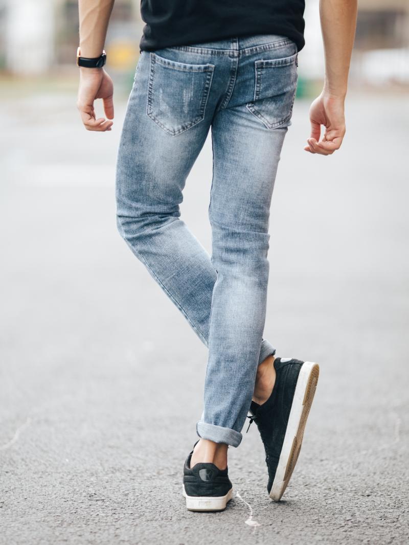 Quần jean skinny xám trắng qj1423 - 2