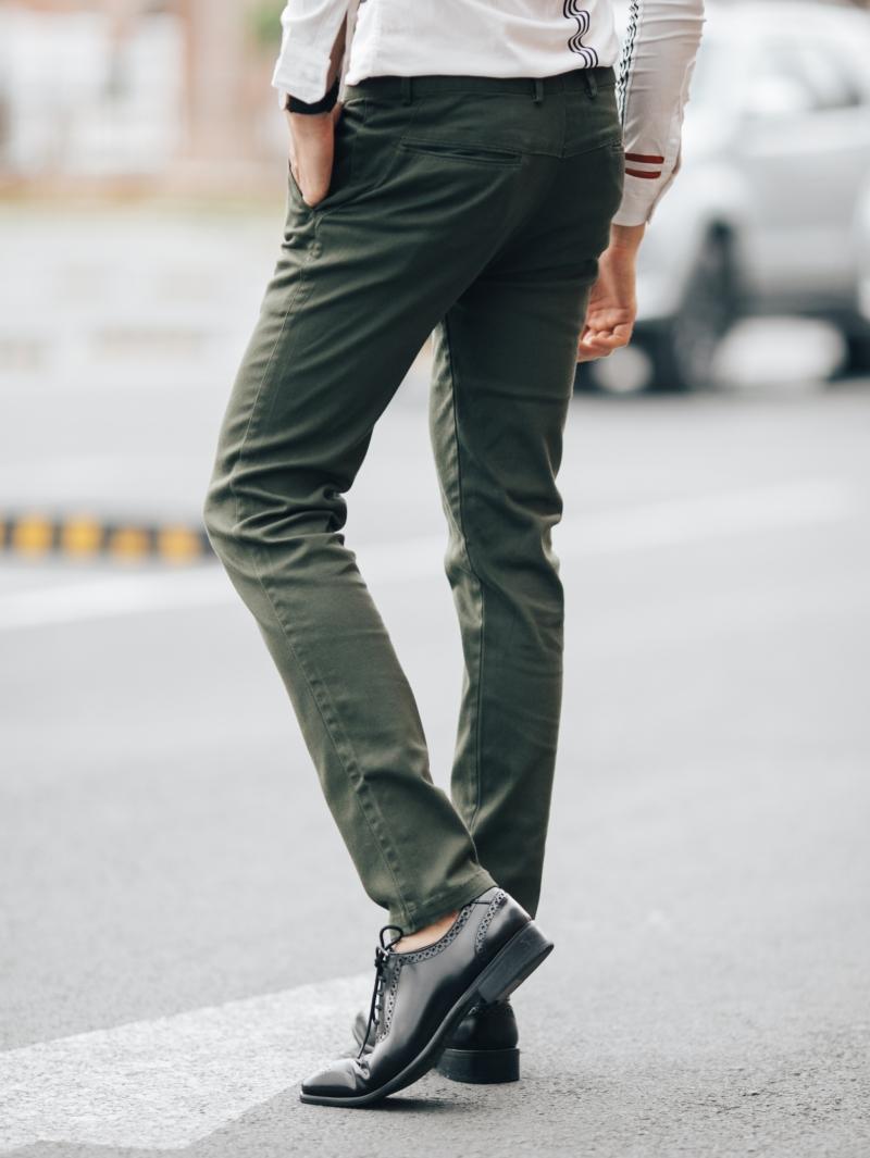 Quần kaki màu rêu qk161 - 2