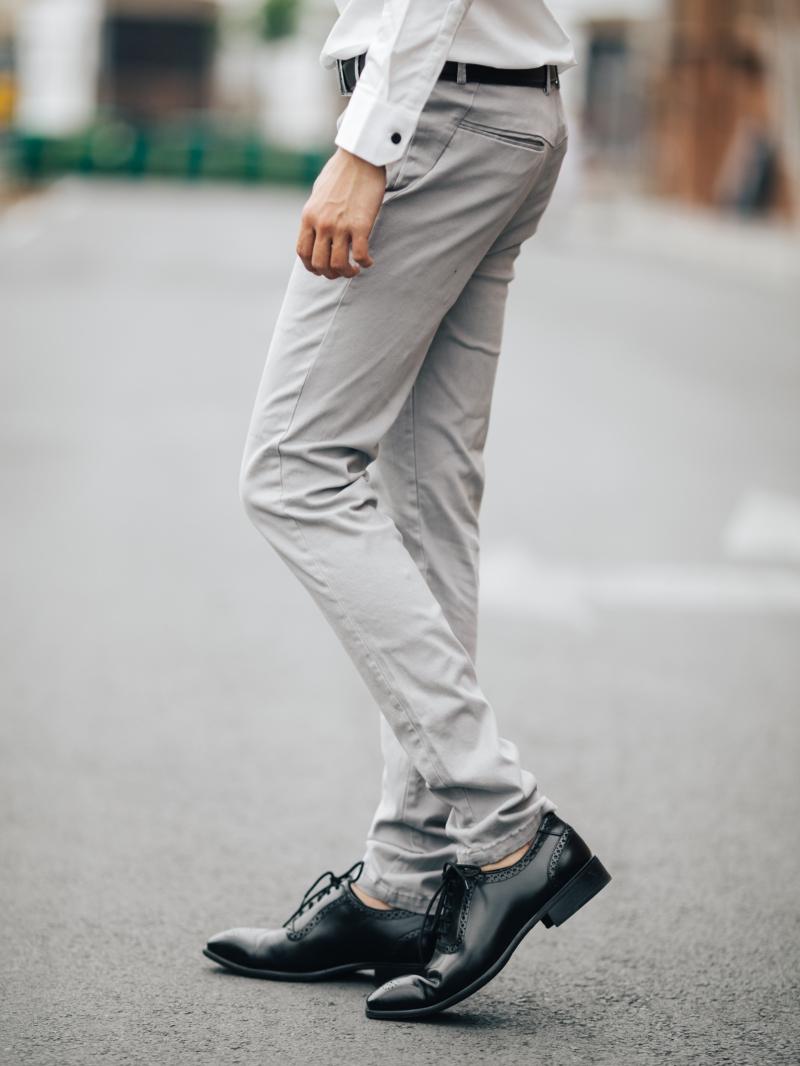 Quần kaki màu xám qk161 - 2