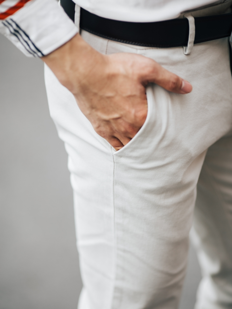 Quần kaki trắng kem qk162 - 4