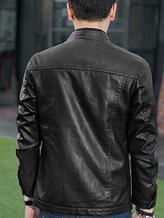 Áo khoác da đen ak211 - 3