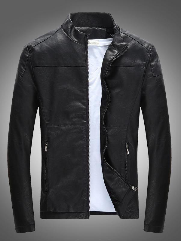 Áo khoác da đen ak212 - 2