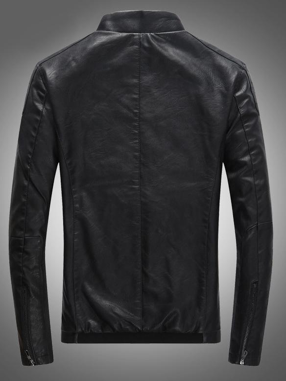 Áo khoác da đen ak212 - 4
