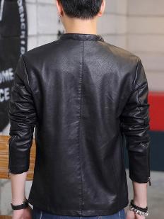 Áo khoác da đen ak209 - 3