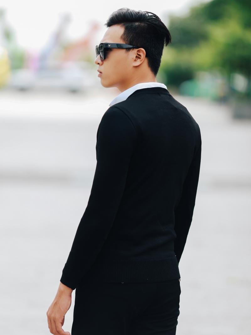 Áo len đen al107 - 3