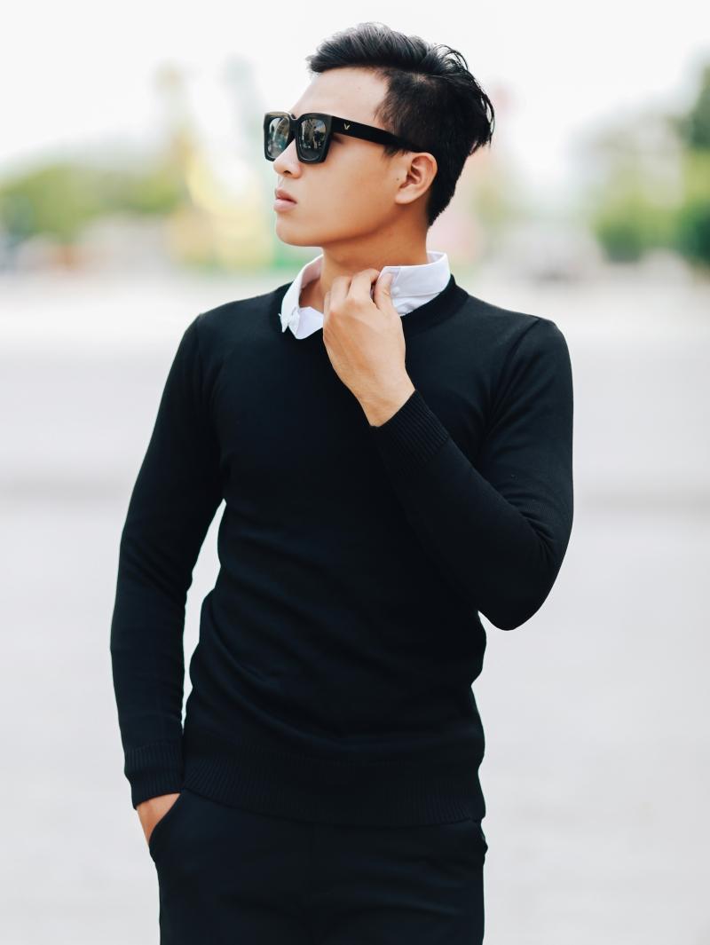 Áo len đen al107 - 1