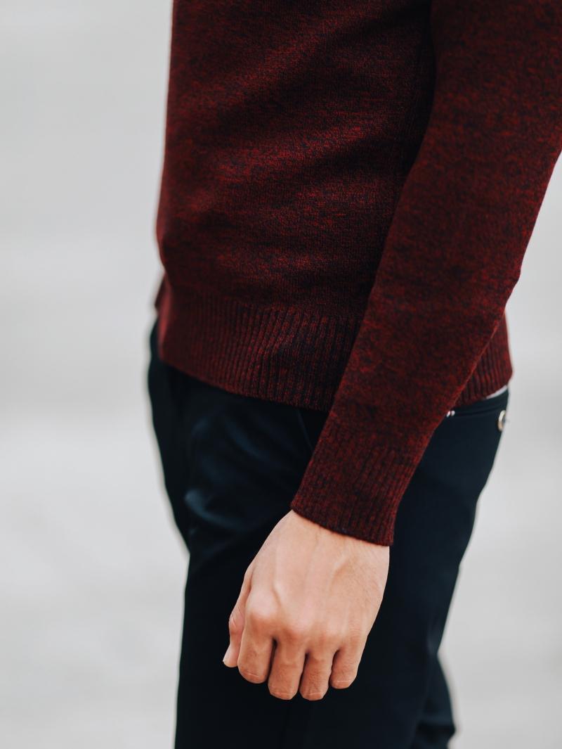 Áo len đỏ đô al106 - 3