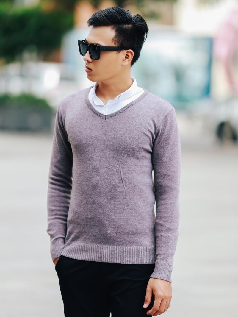 Áo len hồng al106 - 1
