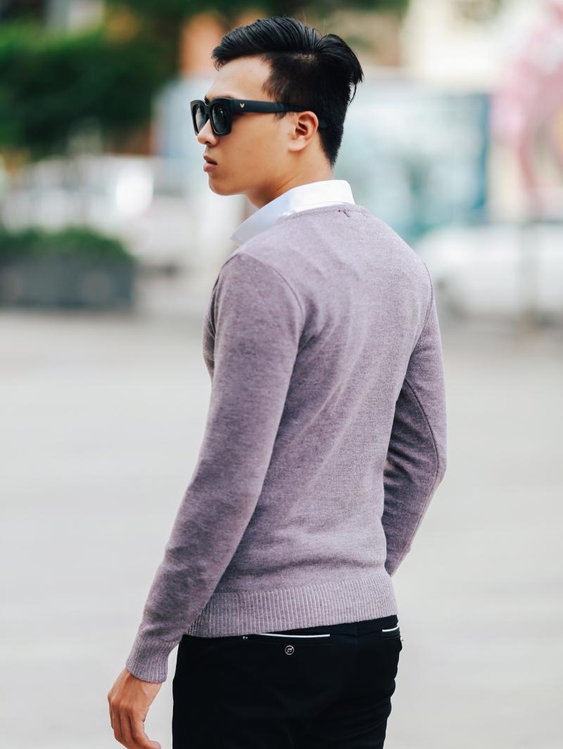 Áo len hồng al106 - 3