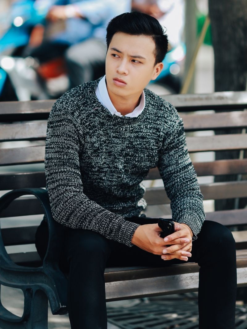 Áo len màu đen al102 - 2
