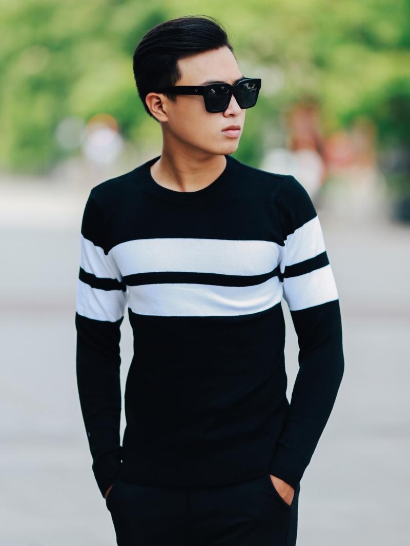 Áo len màu đen al103 - 2