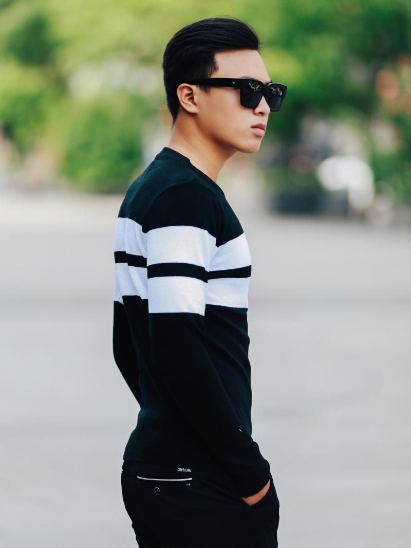 Áo len màu đen al103 - 3