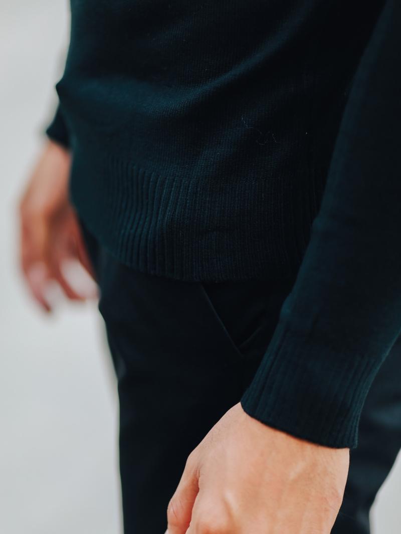 Áo len màu đen al103 - 4