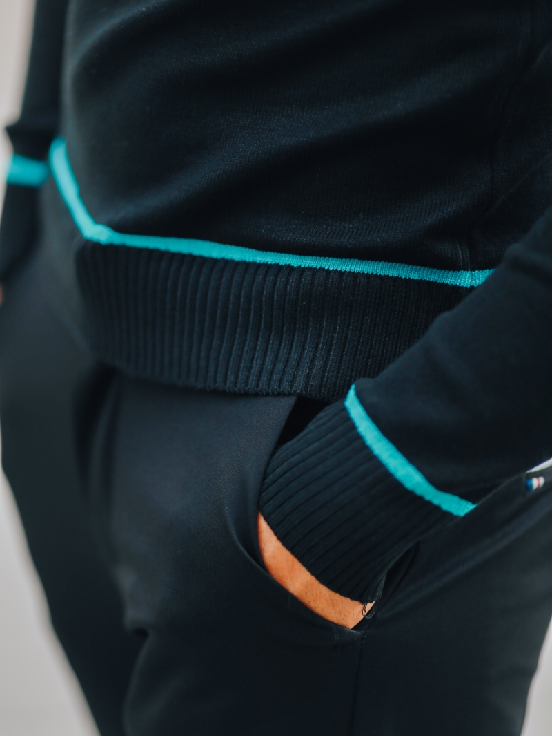 Áo len sọc xanh ngọc al99 - 4