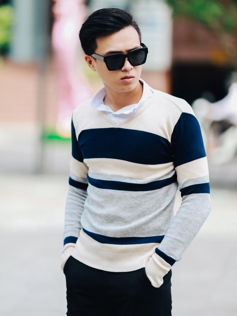 Áo len màu xám chuột al101 - 1