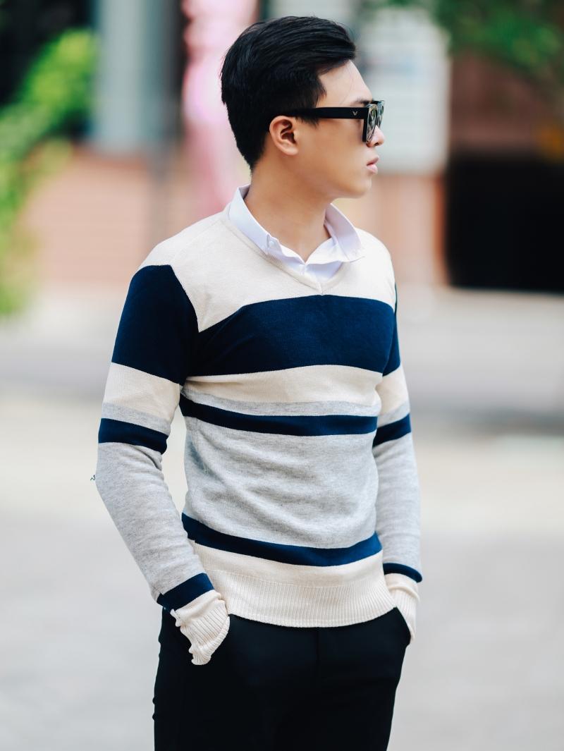 Áo len màu xám chuột al101 - 3