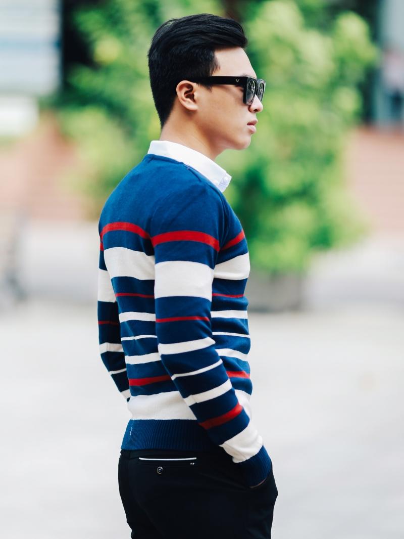 Áo len màu xanh đen al100 - 3
