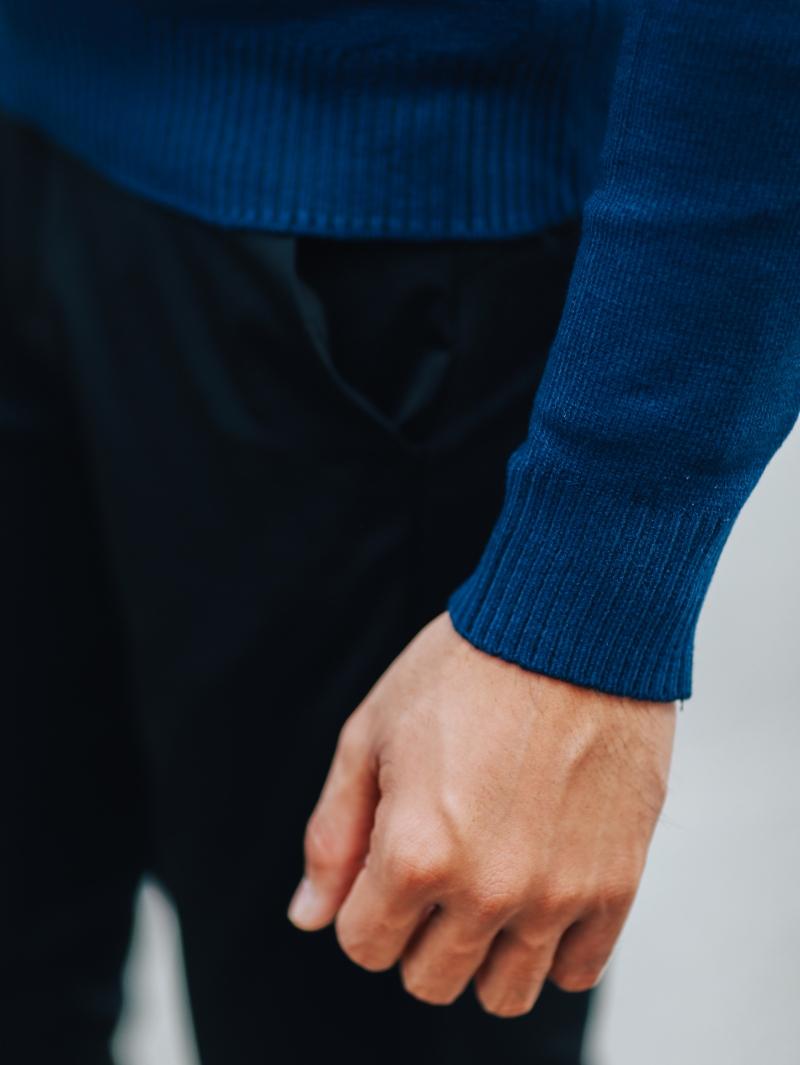 Áo len màu xanh đen al103 - 4