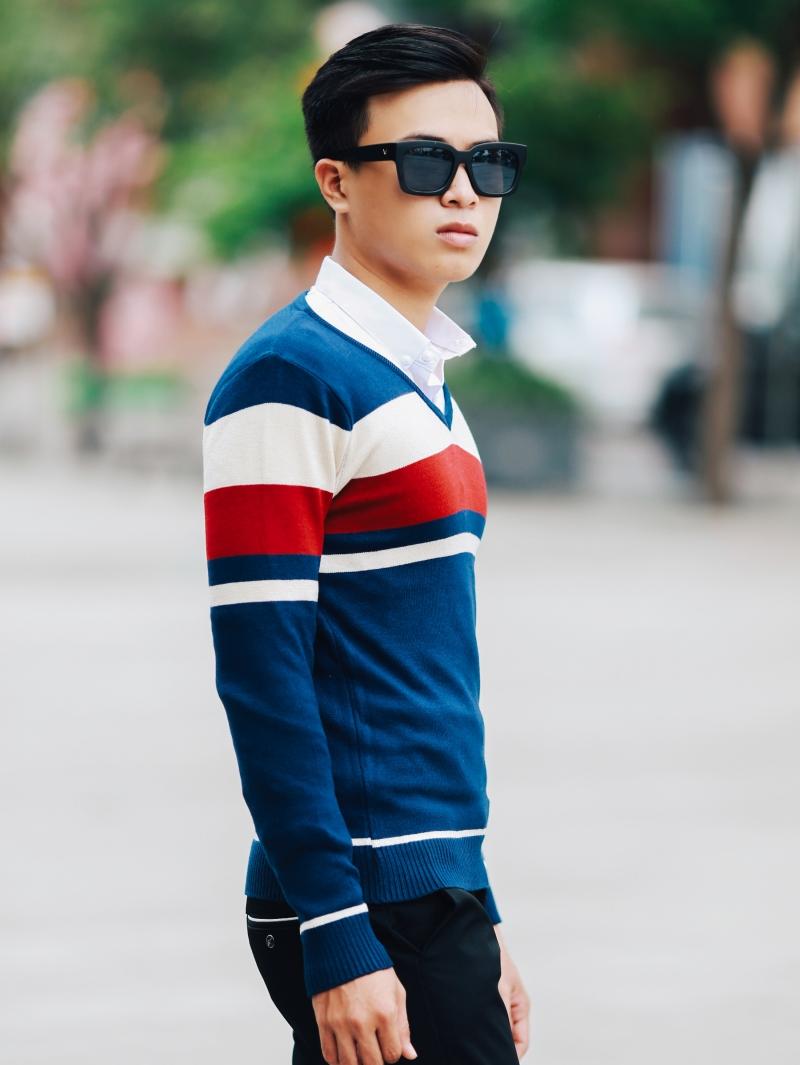 Áo len màu xanh đen al99 - 2
