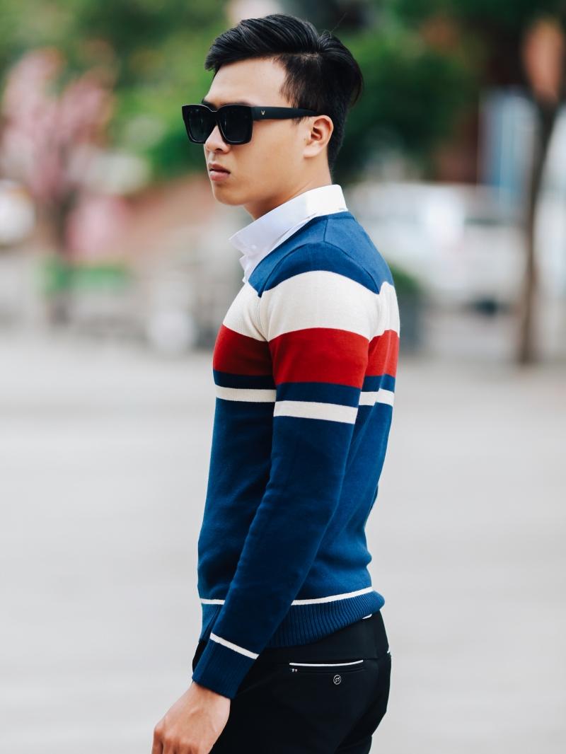 Áo len màu xanh đen al99 - 3
