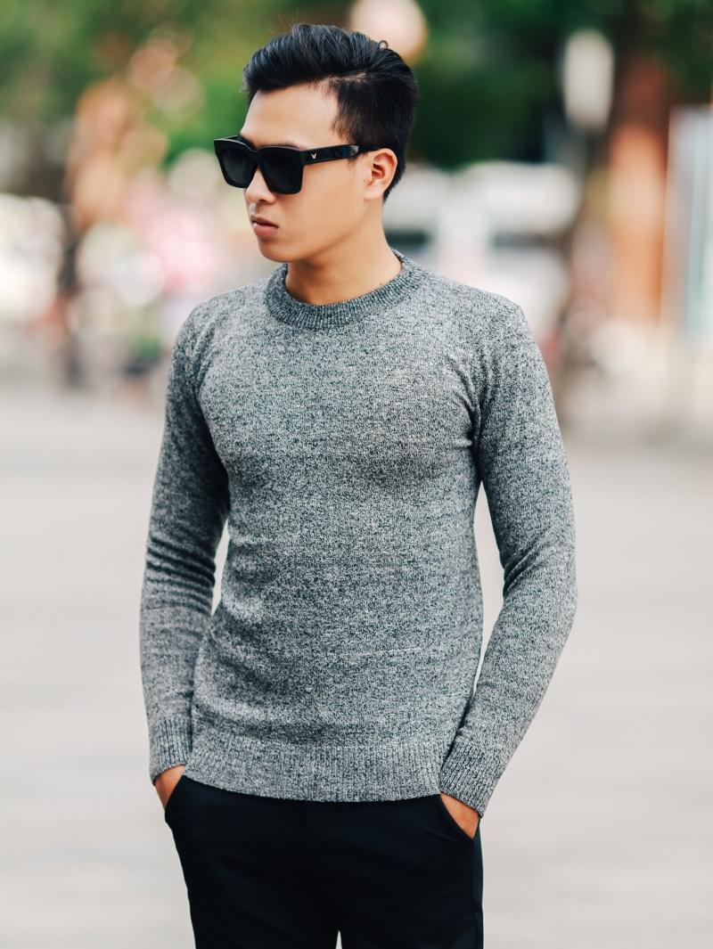 Áo len nâu đốm al107 - 1