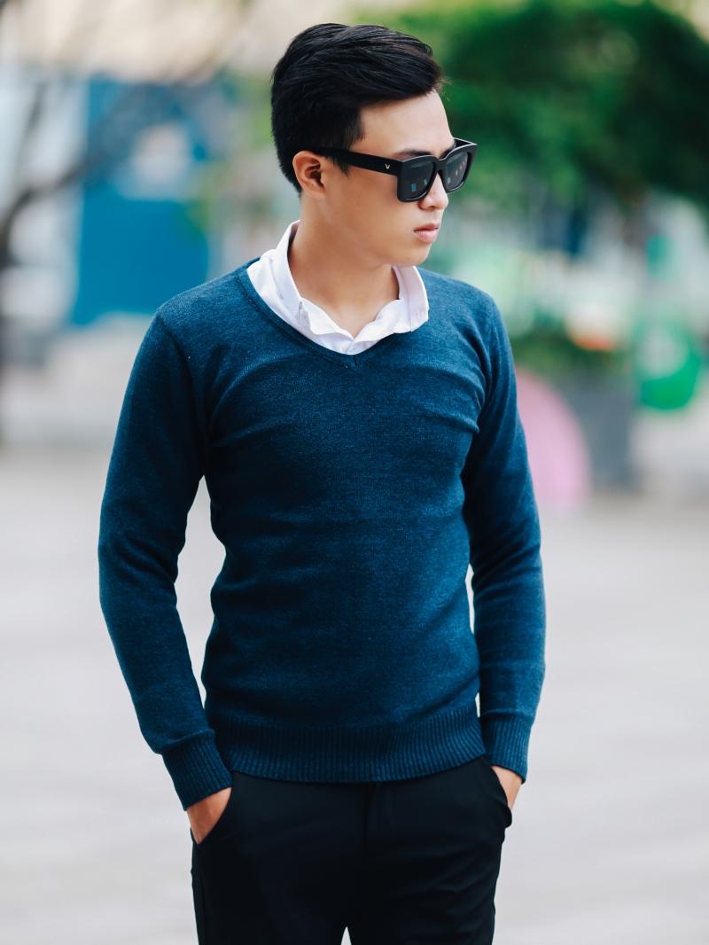 Áo len xanh đen al106 - 2