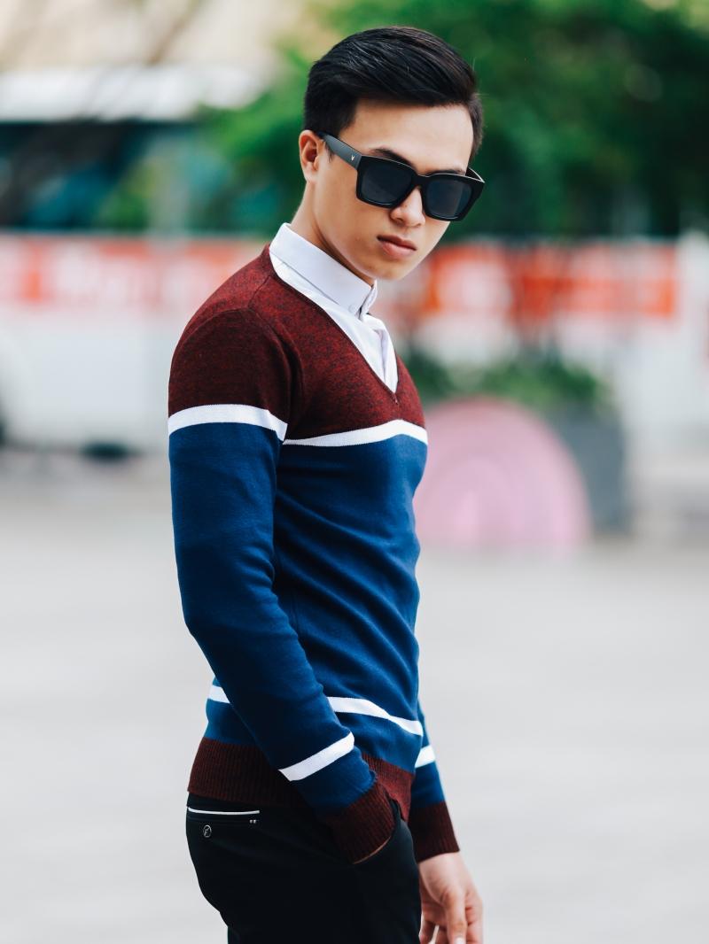 Áo len xanh đen al97 - 2