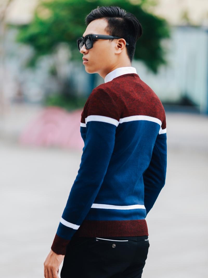 Áo len xanh đen al97 - 3