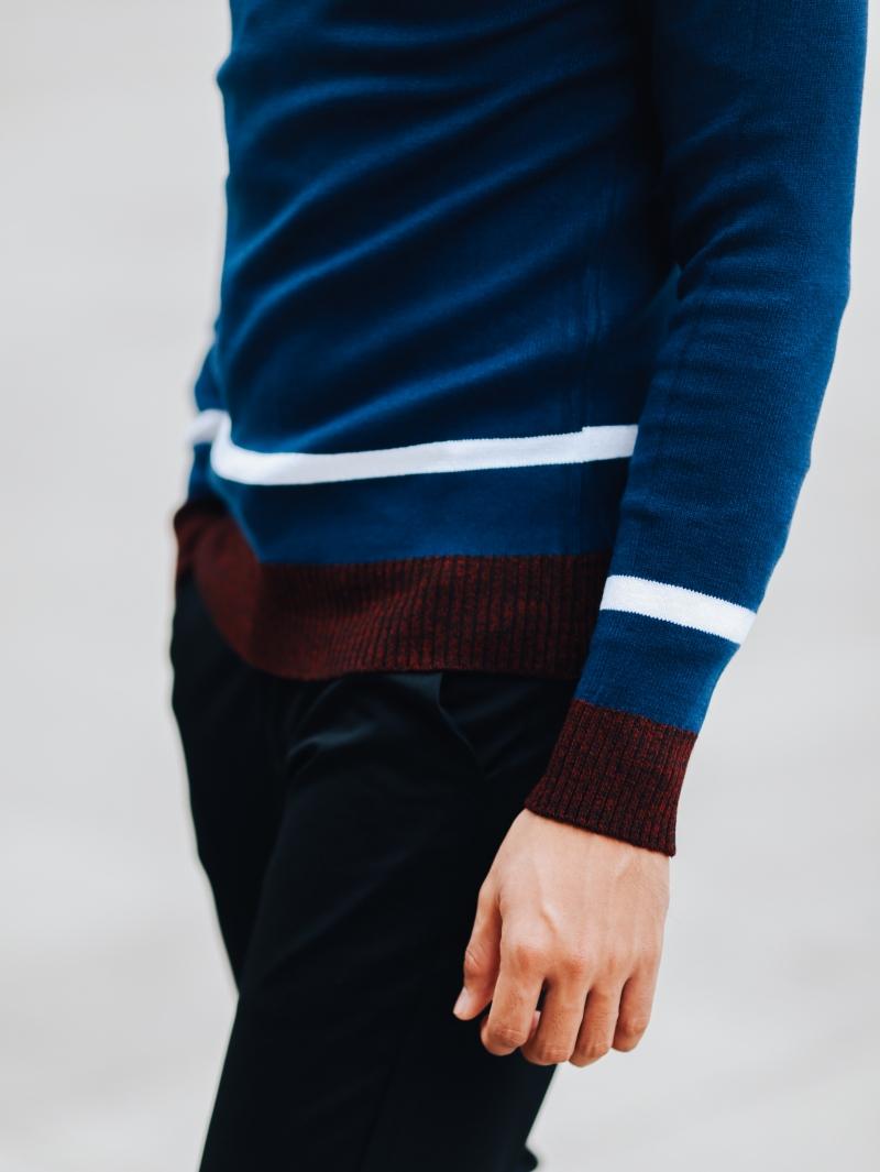 Áo len xanh đen al97 - 4