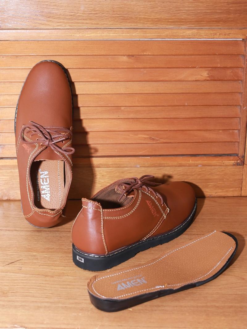 Giày boot tăng chiều cao màu bò g130 - 2